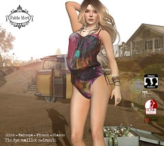 Tie dye malliot swimsuit GROUP GIFT! (Petite Mort- Outfitting the modern bohemian) Tags: group gift summer swimsuit swimwear swim second life sl tie dye boho bohemian hippie fashion mesh slink maitreya classic fitmesh petitemort petite mort