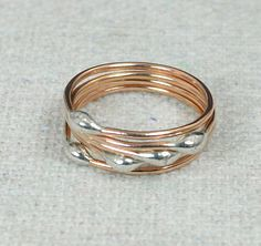 Thin Rose Gold and # (alaridesign) Tags: thin rose gold silver dew drop stacking ring these rings 1250 each choose number you want from quantity pulldown dainty rustic original i s alari