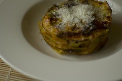 Lasagna with vegetables and salamella in cocotte (nebulux76) Tags: food vegetables cibo lasagna verdure salamella