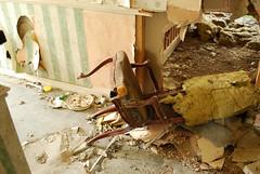Pinewoods nursing home (Berilia) Tags: old abandoned chair nikon dirty rotten derelict nursinghome mouldy pinewoods d40x