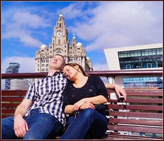 A snooze on the ferry (Bev Goodwin) Tags: sleeping england liverpool couple waterfront candid pierhead merseyside royalliverbuilding merseyferry sonya37