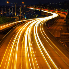 Urban Bloodstream (Gabriel Tompkins) Tags: seattle street city longexposure sky urban usa motion blur cars lamp lines architecture night square concrete vanishingpoint washington movement nikon highway traffic i5 streetlights trails overpass curvy headlights squareformat freeway pacificnorthwest interstate nikkor curve washingtonstate pnw streaking wavy emeraldcity streaming 1x1 curvaceous mercuryvapor 18105 mytop converginglines d90 southlakeunion leadingline 18105mm nikond90 18105mmf3556gvr tronam gabrieltompkins