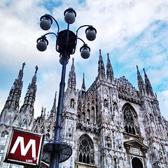 Milan's Duomo (rosicassano) Tags: italy milan church architecture square cathedral milano squareformat duomo lombardia architettura medioevo cattedrale gotico italianart piazzaduomo downtownmilan iphoneography instagramapp uploaded:by=instagram