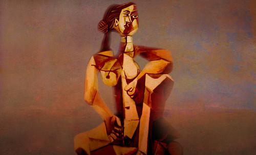 "Mujer Sentada, geometrización de Pablo Picasso (1953), abstracción de Roberto Real de León (2013). • <a style=""font-size:0.8em;"" href=""http://www.flickr.com/photos/30735181@N00/8805313707/"" target=""_blank"">View on Flickr</a>"