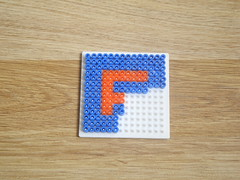hellocatfood - F (hellocatfood) Tags: animation alphabet hamabeads hellocatfood