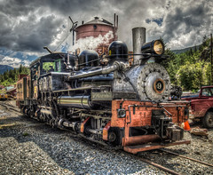Colorado Georgetown Loop #9 Steam Locomotive (NormLanier) Tags: old train vintage golden colorado track lima engine railway denver georgetown historic steam shay locomotive traintrack railfan hdr railfanning photomatix railrailroad