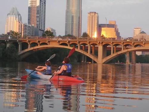 Kayaking on Town Lake
