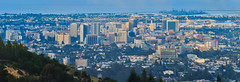 overcast blue (pbo31) Tags: california city morning blue summer panorama color northerncalifornia skyline sunrise oakland nikon downtown over large july panoramic eastbay stitched alamedacounty 2013 d700 hillerhighlands