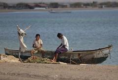 Fun with fishing nets (Coco272727) Tags: boys fishing colombia punta nets guajira gallinas laguajira cabodelevela