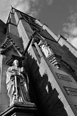 Cathedral church of St (gideonc - Thank you for the 1,000,000+ views) Tags: bw church statue nikon dslr inverness d3200