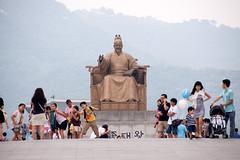 _LEE6460 (yabu21@yahoo.com) Tags: city boy people colour girl statue asia cityscape korea southkorea hangul kingsejong traveldestinations travelbackgrounds travellocations