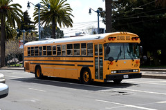 American School Bus - Michael's Transportation 6504 (Howard_Pulling) Tags: sf sanfrancisco california ca bus photo coach nikon picture april coaches 2013 hpulling howardpulling d5100
