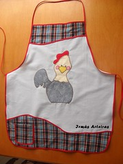 Avental xadrez galinha (irmasarteiras2) Tags: galinha patchwork avental galinhas patchaplique