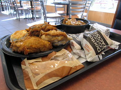 Tray Of Food From Malone's KFC/Taco Bell. (dccradio) Tags: food chicken dinner lunch corn tacos mashedpotatoes biscuit eat meal kfc tray supper kentuckyfriedchicken tacobell lunchtray appleempinada