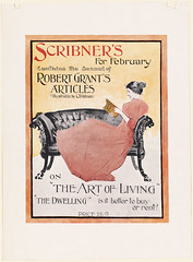 Scribner's for February (Boston Public Library) Tags: women prints bookmagazineposters