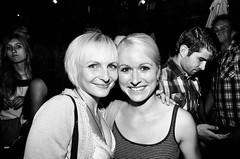 face to face (xicino) Tags: girls friends portrait bw girl night switzerland ascona ticino eyes pentax blonde k30 justpentax