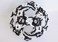 """""""Dark Matter"""" Woven Wrinkled Great Ditrigonal Dodecicosidodecahedron (Byriah Loper) (Byriah Loper) Tags: paper compound origami complex paperfolding kami wireframe polyhedron wrinkled modularorigami byriahloper"""