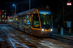 LUAS tram at a cross roads (PressVault.com) Tags: ireland dublin tram cobbled rails ie alstom luas sreet fingal citadis 4003 hpulling
