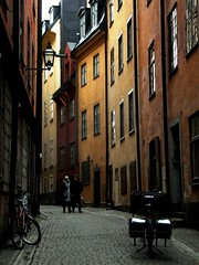 Stockholm in December (SophieScarlette) Tags: street red orange snow lund streets color colour yellow fire university erasmus sweden stockholm capital sophie abroad sverige universitet autumnal svergie lunds scarlette studyabraod