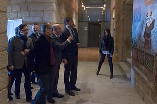 Visita dos presidentes das Deputacións de Ourense e Lugo ao Centro de Interpretación da Ribeira Sacra e da Vida Monástica da Ribeira Sacra en San Pedro de Rocas (Esgos)
