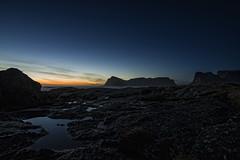 Mostadfjellet i solnedgang (tomviktor) Tags: sunset sky norway norge norwegen lofoten vry mostad