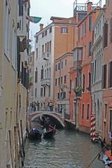 A building 'canyon' (Halliwell_Michael ## Thank you for your visits #) Tags: venice italy perspective bridges gondolas 2013 nikond40x canalsinvenice venetianbridges