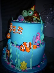 finding nemo birthday cake (pinky momotaro) Tags: sea party hat cake finding nemo squirt crush figures dory marlin fondant tiered flickrandroidapp:filter=none