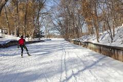 Minneapolis winter 2014 (Lucie Maru) Tags: winter white lake snow ski cold minnesota landscape midwest skiing january trails minneapolis frozenlake lakeoftheisles 2014 snowtrails