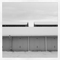 White garage roofs #symmetric #sweden #winter... (dagsoderlund) Tags: winter blackandwhite bw sweden symmetric uploaded:by=flickstagram vision:text=0605 vision:outdoor=0936 instagram:photo=33881610783652620921159530