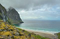 Kvalvika (Airborne.) Tags: wild beach norway paradise playa noruega lofoten troms intothewild kvalvika fylke blinkagain reinstad