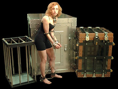 Lady Houdini, Dayle Krall with The Vault, Cage and Cruciblet2 (lady.houdini) Tags: water cage escapes houdini crucible thevault breathhold richardsherry daylekrall femaleescapeartist ladyhoudini