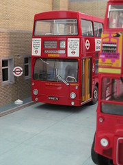 Romford (North St) bus garage (kingsway john) Tags: efe sunstar 124 dms rm routemaster fleetline daimle london transport bus garage model scale londontransportmodel diorama 176 oo gauge miniature