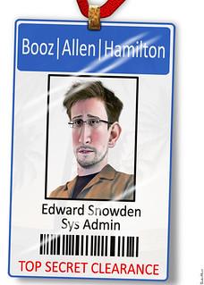 Edward Snowden - Booz, Allen, Hamilton Name Tag