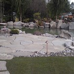 """Greenhaven Landscapes Inc., outdoor patio, outdoor lighting, stone patio, dry creek bed, fire pit, fireplace, stepping stones, koi pond, trout pond, water feature, waterfall, boulders <a style=""""margin-left:10px; font-size:0.8em;"""" href=""""http://www.flickr.com/photos/117326093@N05/12490055245/"""" target=""""_blank"""">@flickr</a>"""