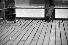 WAITING IN VAIN (DESPITE STRAIGHT LINES) Tags: she street city uk england woman cloud london feet architecture female pose person photography mono design construction aperture nikon shoes waiting flickr day dof legs steel candid jetty capital perspective thecity streetphotography bodylanguage southbank iso jeans telephoto photograph walkway wait getty denim february bluejeans nikkor plank planks embankment bankside blackfriarsbridge d800 lifeinthecity shutterspeed waterloobridge londonlife waitinginvain paulwilliams woodenjetty berniespaingardens vrii waitinvain nikongps nikond800 londonssouthbank nikongp1 nikon70200mmvrii nikkor70200mmvrii despitestraightlines ilobsterit