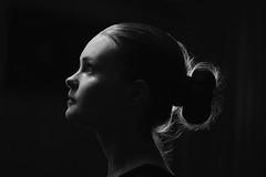 Margareth I (A.Darviņa -LV-) Tags: light portrait blackandwhite bw woman girl beauty face female 50mm lights eyes natural sensual blonde 60d