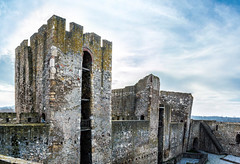 Smederevo Fortress (A. Tadic) Tags: old city travel blue sky tower history film tourism monument beautiful festival stone movie town ancient tour antique serbia sightseeing culture vi
