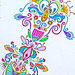 Zentangle Art With Color Tags Abstract Color Art