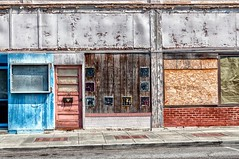 Hot Day In An Empty Town (rickhanger) Tags: abandoned storefronts mainst abandonedstores