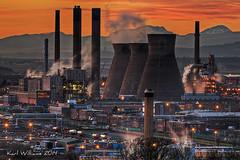 Grangemouth Refinery (3) (Shuggie!!) Tags: sunset urban mountains landscape scotland hills hdr grangemouth refineries zenfolio
