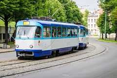 Old Tram (Teemu Tretjakov Photography) Tags: street old travel summer urban tourism train vintage outside energy downtown european cityscape technology power traffic symbol outdoor steel traditional transport rail cable historic retro latvia transportation transit rails vehicle historical tramway riga