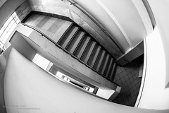 Follow the path (Daniel Kulinski) Tags: urban blackandwhite bw white abstract black building up lines photography europe image daniel steps creative picture samsung poland indoor down fisheye staircase warsaw inside shape 1977 photograhy 10mm nx kulinski nx20 samsungnx samsungimaging danielkulinski samsungnx20 samsungnx10mmf35