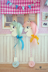 Stick horse Blue and Pink