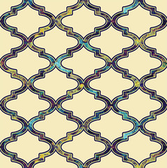 'Fretting for Klimt on ecru': design detail (Su_G) Tags: cream klimt trellis exotic lattice middleeastern fretwork ecru sug designdetail spoonflower designimagedetail moroccanquatrefoil moorishfretwork frettingforklimtonecru