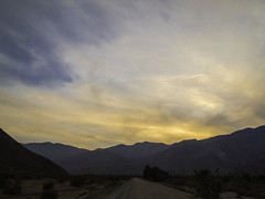 Palm Springs sunset (AR_the old guy) Tags: california trees sunset mountains clouds raw palm hills springs toned shrubs floodway pb134404