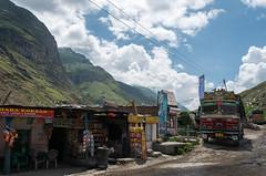 Himalayan Truck Stop (Waldemar*) Tags: india mountains nikon highway asia carriage tata goods truckstop himalaya himalayas himachalpradesh transhimalaya lehmanalihighway afs24120mmf4gedvr d800e lorystop