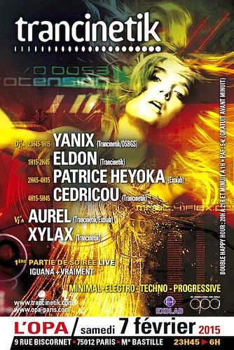 "Flyer 07/02/2015 Trancinetik @ OPA (Paris) <a style=""margin-left:10px; font-size:0.8em;"" href=""http://www.flickr.com/photos/110110699@N03/16331607089/"" target=""_blank"">@flickr</a>"