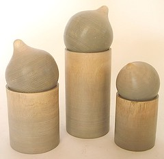 Onion-top Boxes (anczelowitz) Tags: wood sun color texture stain thailand design nice natural handmade earth grain craft vessel wash mango thai craig turned decor acacia vases woodsy tableware designed crated farmed newvase anczelowitz