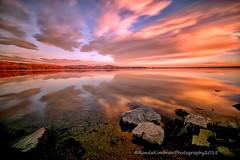 A Valentin's Day Sunrise from Loveland, Colorado (RondaKimbrow) Tags: longexposure morning lake reflection clouds sunrise landscape colorado rocks loveland valentinesday lonhagler rondakimbrowphotography