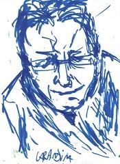 Meu pai (spamoufraude) Tags: blue portrait art face work painting paper sketch artwork paint artist drawing marker sharpie sight draw dibujo